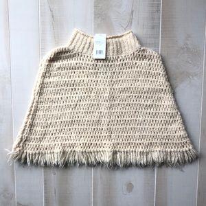 NWT Vince Cream Poncho Sweater